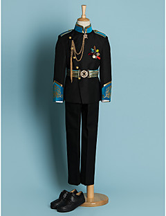 Ring Bearer Suit - 4 Nero/Avorio Poliestere