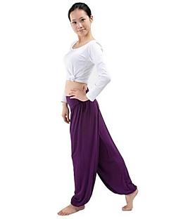 Moda feminina Yoga Hippie largas de cintura alta estiramento Calças / calças
