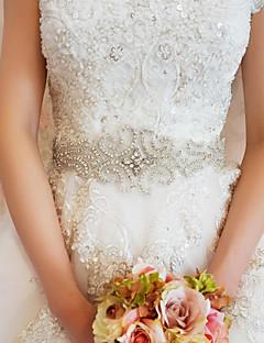 Faixa Cetim Faixas para Mulheres Casamento/Festa/Noite Pedraria