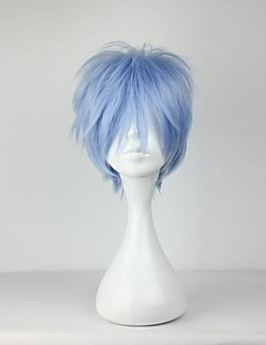 Perruques de Cosplay Cosplay Kuroko Tetsuya Bleu Court Anime Perruques de Cosplay 30 CM Fibre résistante à la chaleur Masculin