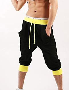 мужские спортивные хлопчатобумажные черный / серый / белый sweatpant шорты