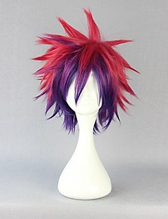 Cosplay Wigs No Game No Life Sora Red Short / Straight Anime Cosplay Wigs 30 CM Heat Resistant Fiber Male