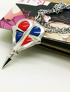 Jewelry Inspired by Blue Exorcist Rin Okumura Anime Cosplay Accessories Necklace Red / Blue / Silver Alloy Male