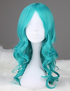 Cosplay Wigs Sailor Moon Sailor Neptune Blue Medium Anime Cosplay Wigs 55 CM Heat Resistant Fiber Female