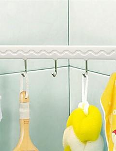 Crochet Bathrrom aspiration mur Cinq Lié plastique blanc