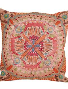 Fleurs mignonnes de coton / lin coussin décoratif couverture
