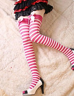 Socks/Stockings Sweet Lolita Lolita Princess White / Pink Lolita Accessories Stockings Bowknot / Solid For Women Nylon