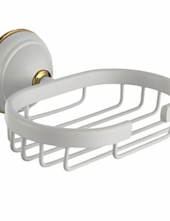 Painting Finish Wall-mounted    Bathroom Accessories Solid Brass Soap Basket
