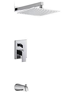 12インチの現代的なクローム壁はシャワーヘッドと蛇口タップを雨ダブルハンドルの真鍮のシャワーの蛇口をマウント