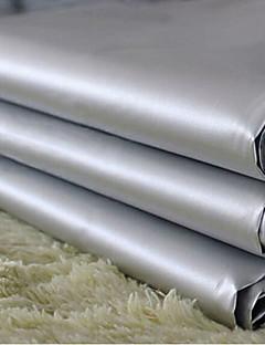 (Deux panneaux) doublure classique rideau pvc solide gris