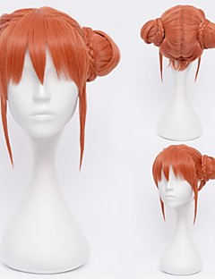 Gintama Kagura Orange Cosplay Wig