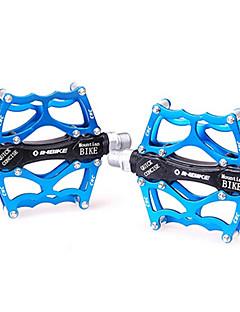 INBIKE 6061 Aluminum+CNC Blue 2 Bearings Anti-Slip Bike Bicycle Pedals