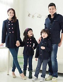 Family's Fashion Joker Leisure Parent Child Long Sleeve Coat