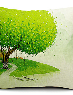 Spring Painting Cotton/Linen Decorative Pillow Cover