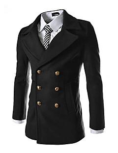 jogal 3d duševní double prsu vlněný kabát