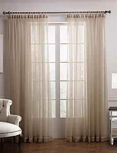 2パネル ウィンドウトリートメント 現代風 ベッドルーム ポリエステル 材料 シアーカーテンシェード ホームデコレーション For 窓