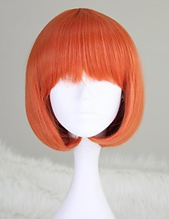 Lolita Wigs Sweet Lolita / Punk Lolita Lolita Straight / Short Orange Lolita Wig 30 CM Cosplay Wigs Solid Wig For Women