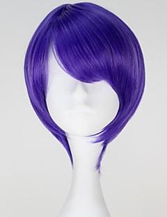 Tokyo Ghoul Shuu Tsukiyama Short Straight Purple Color Anime Cosplay Wig