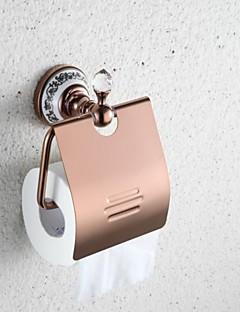 parede- contemporânea Mount Rose papel higiênico portadores de bronze acabamento em ouro