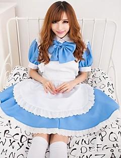 hot girl Himmel blau terylene Kleid Mädchenuniform