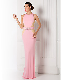 TS Couture® Formal Evening / Prom / Military Ball Dress - Candy Pink Plus Sizes / Petite Trumpet/Mermaid Jewel Floor-length Jersey