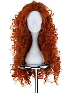 New BRAVE Movie MERIDA Long lockigt Orange anime Cosplay Wig