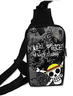 een stuk strooien hoed piraten schedel patroon cosplay schoudertas
