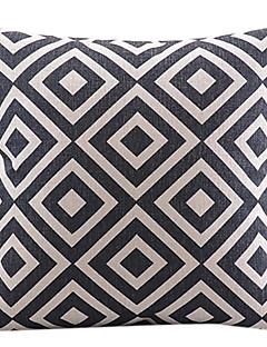 klassiskt rutig bomull / linne dekorativa örngott