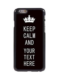 """개인의 경우 검은 킵 아이폰 6에 대한 진정 디자인 금속 케이스 (4.7 """")"""