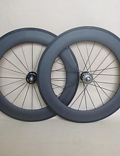 UDELSA 23mm Wide Carbon Track Bike Wheels 88mm Bicycle Cycling Wheels 700C