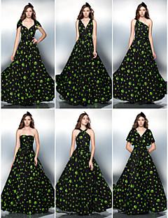 Formal Evening/Prom Dress - Orange/White/Lime Green Plus Sizes Sheath/Column Floor-length Knit