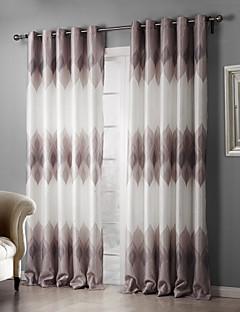 2パネル ウィンドウトリートメント 田舎風 ベッドルーム ポリエステル 材料 遮光カーテンドレープ ホームデコレーション For 窓