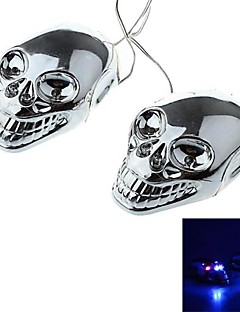 DTY Skull Style 4 LED Decorative Lamp Sticker for Car,Motorcycles  (2 PCS)