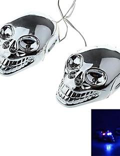DTY Skull Style 4 LED Decorative Lamp Sticker for Car,Motorcycles  (2 PCS)