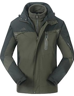 Outdoors Men's Polyester 3-Layers 3 In 1 Windproof  Sport Outerwear Jackets Coat Twinset