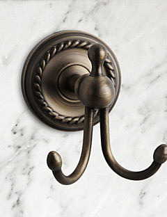 Antique Brass Wall-mounted Robe Hook