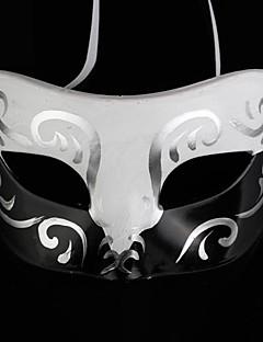 Mască Cosplay Festival/Sărbătoare Costume de Halloween Alb / Negru Imprimeu Mască Halloween Bărbătesc PVC