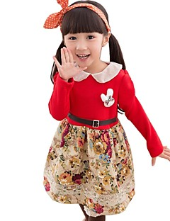 Girl's Fashion And Vintage Small Floral Princess Dress