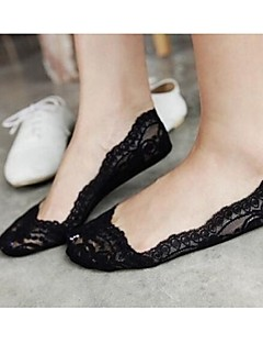 meias de senhora pés das mulheres deslizamento silicone rendas invisível