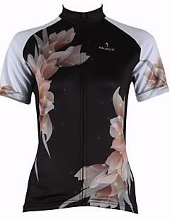 ILPALADINO 싸이클 져지 여성의 짧은 소매 자전거 통기성 빠른 드라이 자외선 방지 져지 탑스 100% 폴리에스터 꽃 / 식물 봄 여름 사이클링/자전거 블랙