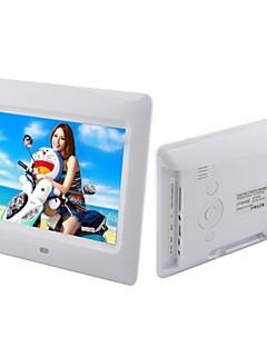 7 polegadas moldura digital de reprodução do loop lcd com controle remoto de vídeo de música (branco e preto)