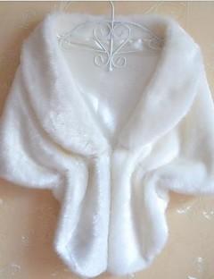 וינטאג' ליציאה מעיל פרווה נשים,לבן שחור חום חורף עבה דמוי פרווה