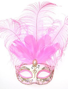 Mask Princess Fairytale Festival/Holiday Halloween Costumes Pink Print Mask Halloween Carnival Female PVC