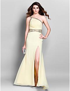 Formal Evening / Prom / Military Ball Dress - Daffodil Plus Sizes / Petite Sheath/Column One Shoulder Floor-length Chiffon