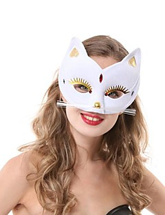 Mask Cosplay Festival/Holiday Halloween Costumes White Solid Mask Halloween Female PVC