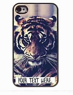 personlig fallet tigerdesign metallhölje för iPhone 4 / 4S
