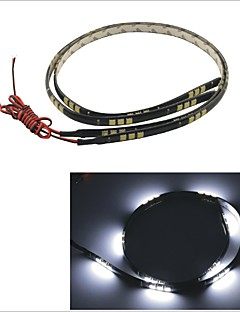 carking ™ 5050-30smd-60 centímetros carro à prova d'água lâmpada decorativa strip-preto (2pcs)