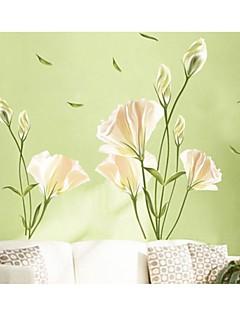 pared calcomanías pegatinas de pared, flores de la familia de decoración del hogar pegatinas de pared de pvc