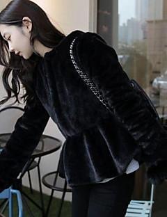 aier dámská zimní nové módní kabát vynosit (černá) 135