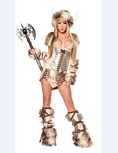 Primitive Cattle Plush Fur Animal Women's Halloween Costume